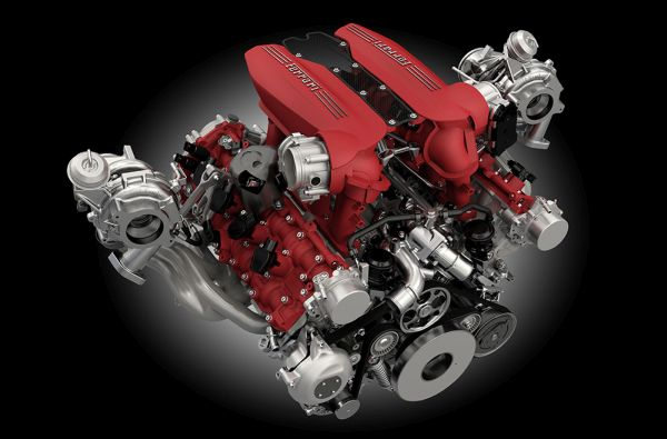 2015 Ferrari 488 GTB Engine