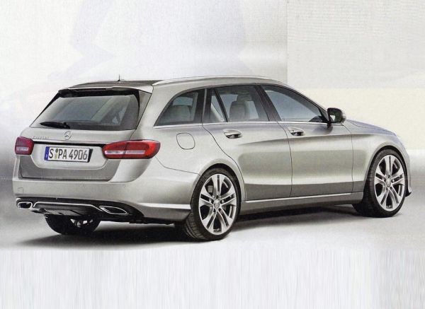 Mercedes E-Class Wagon 2015 - Right Side and Rear View