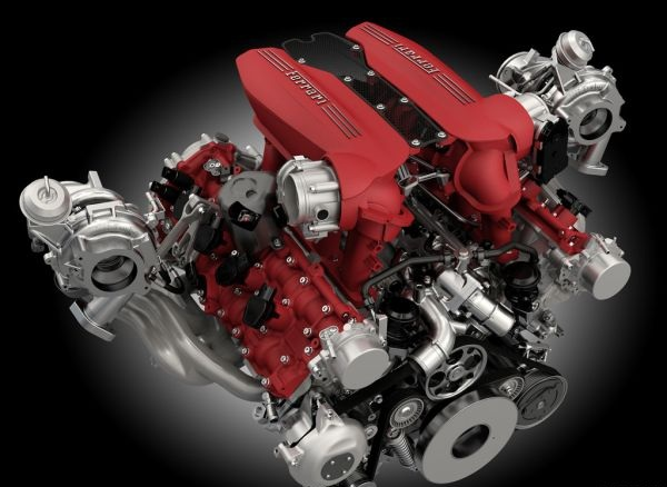 Ferrari 488 GTB Engine - 2016