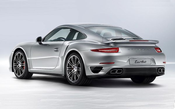 2016 Porsche 911 Turbo - Left Side and Rear View
