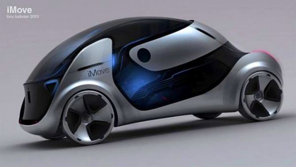 2020 Apple iMove Electric Car Concept - Side View