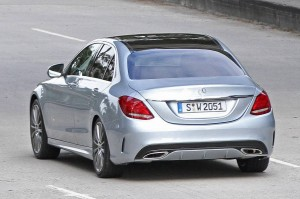 Rear View of Mercedes-Benz C-clas