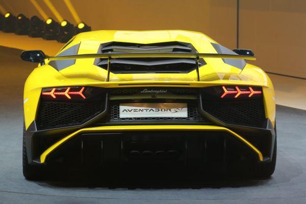 2016 Lamborghini Aventador SV - Rear View