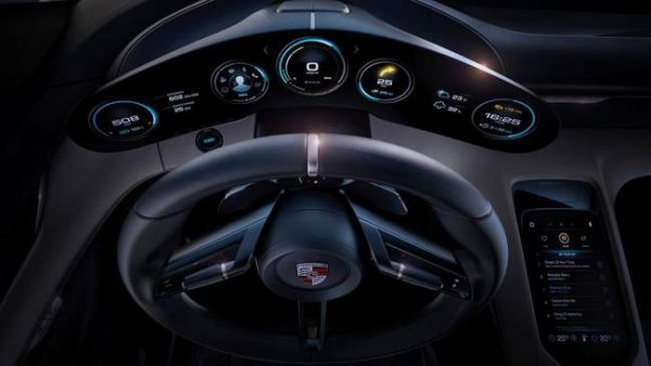 Porsche Mission E Electric Car - Interior