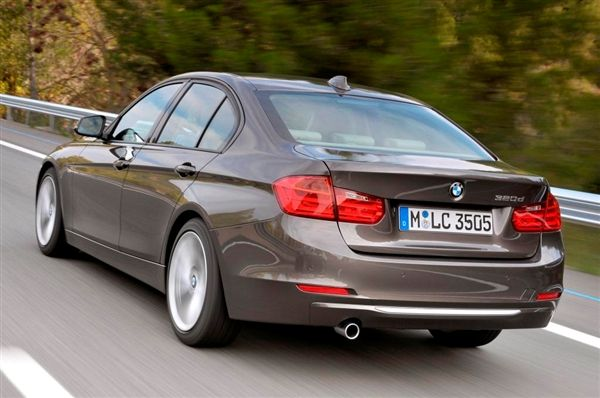 Rear View of 2015 - BMW 328d Sedan