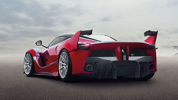 Rear View of 2015 Ferrari - FXX K