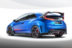 Rear View of 2015 Honda Civic Type R
