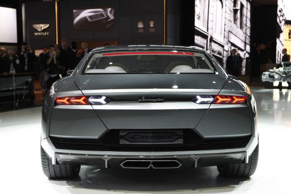 Rear View of 2015 Lamborghini Estoque