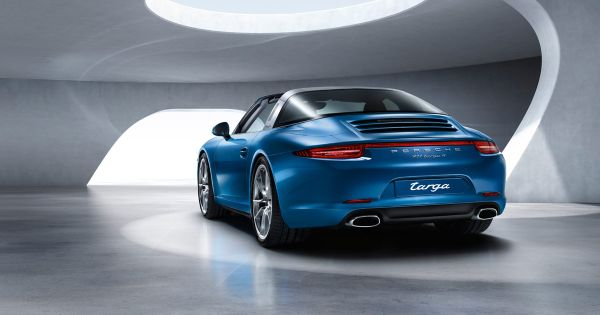 Rear View of Porsche 911 Targa GTS - 2015