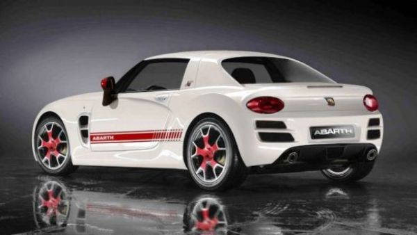 Rear View of 2016 Fiat Abarth Spider