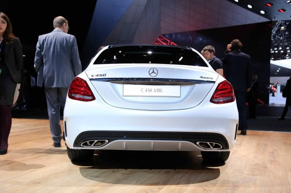Rear View of 2016 Mercedes - Benz C450 AMG Sport