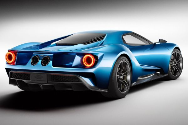 Rear View of 2017 Ford GT Coupe