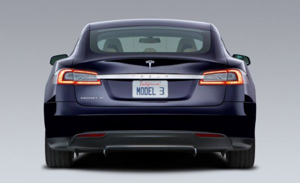 2016 Tesla Model 3 - Rear View
