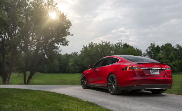 2016 Tesla Model S P90D - Rear View