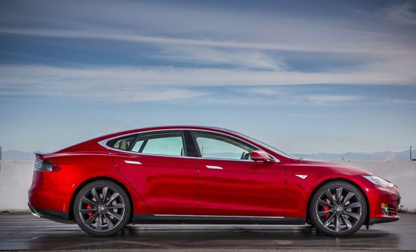 2016 Tesla Model S P90D - Side View