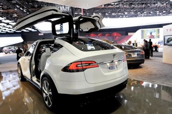 2016 Tesla Model X - Rear View