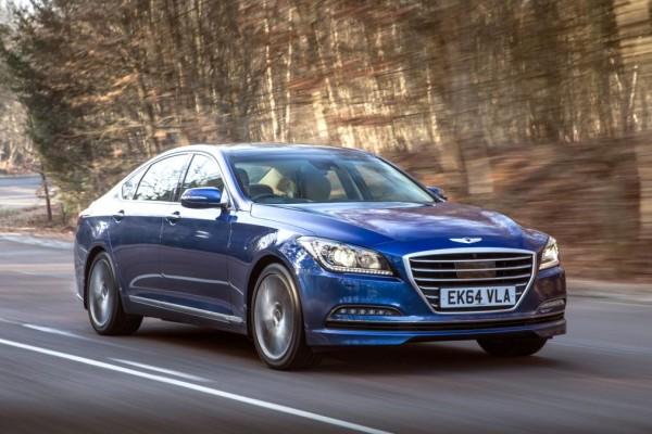 Hyundai Genesis blue